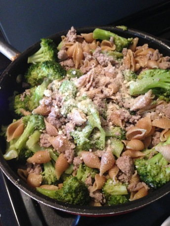 Pan of Turkey Pasta